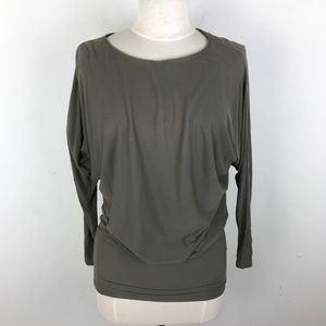Vince. Batwing Olive Green Grey Top Blouse XS